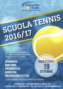 locandina scuola tennis 2016