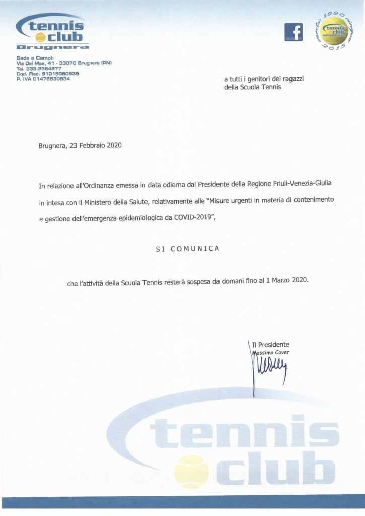 Ordinanza FVG